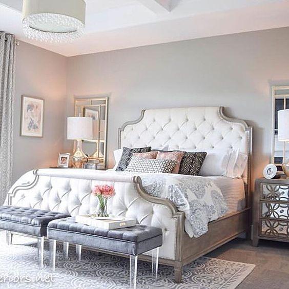 vintage light grey room