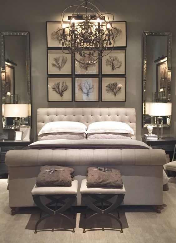 light gray bedroom walls