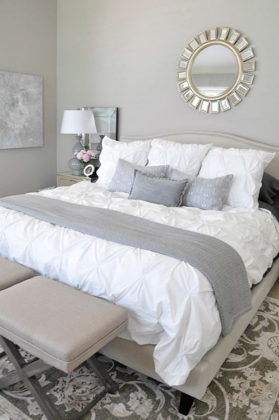 light greay room with white details