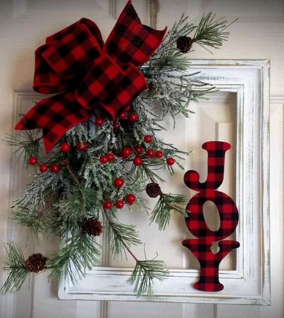 Distressed Shabby Christmas Frame