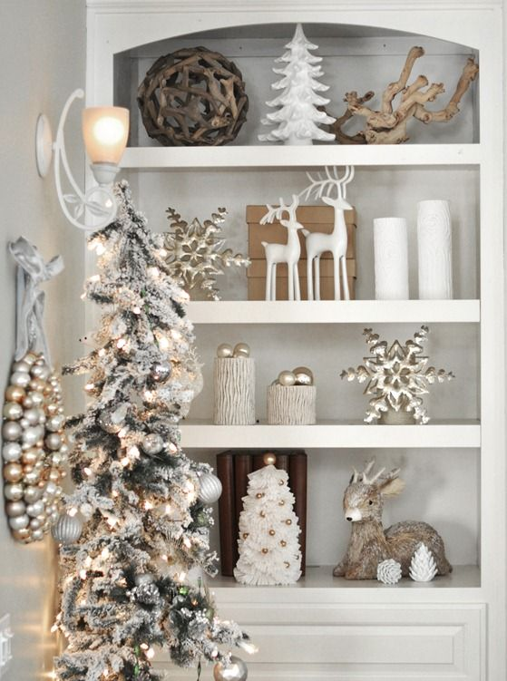 Gold, silver and white Christmas decor