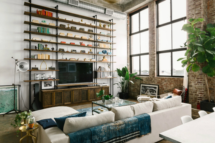 Transitioning a Sprawling Industrial Loft to a Cozy Home 6