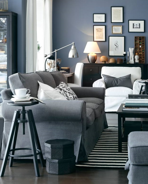 best IKEA on a budget gray living room idea