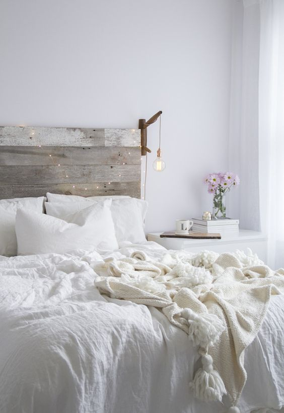 on a budget bedroom with diy headboard