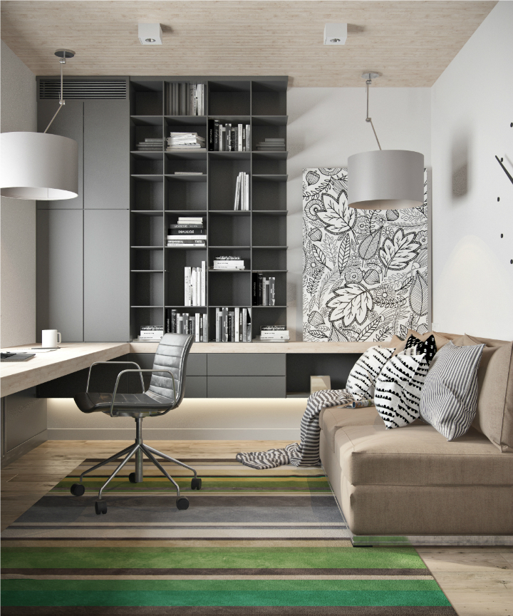 Contemporary Loft interior design 17