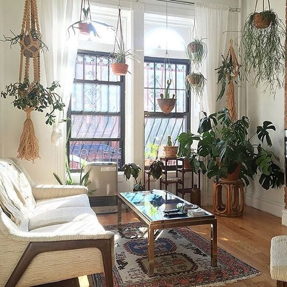 ethnic bohemian living room decor