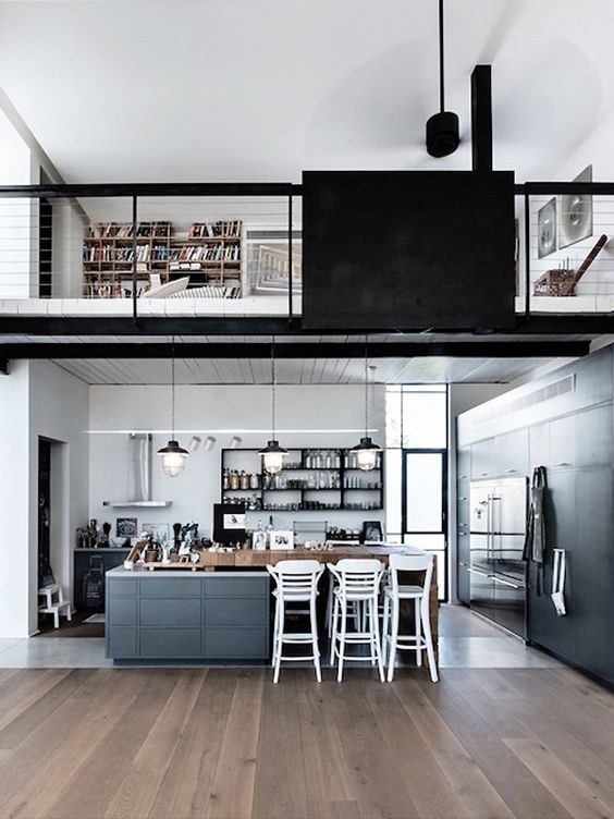 Beautiful Loft Kitchen Design Idea With Loft Industrie