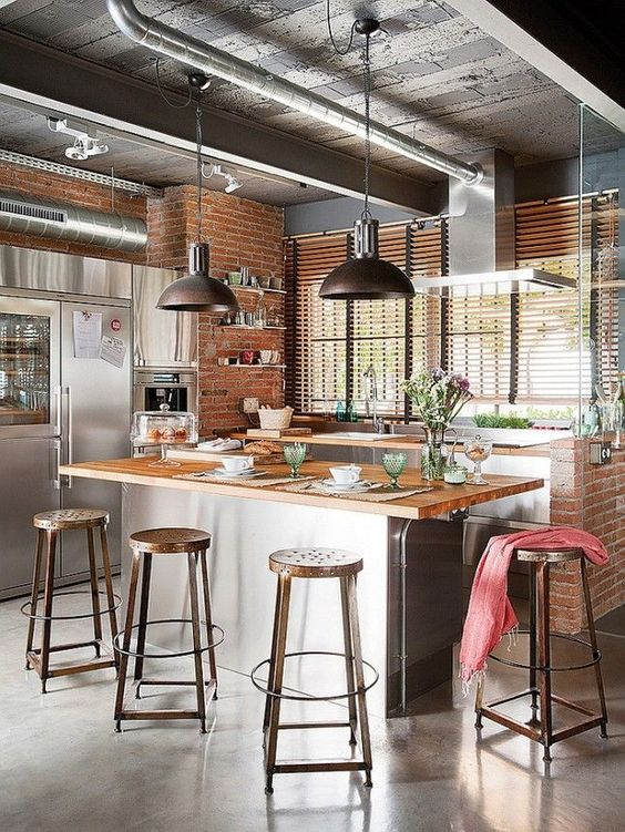 Loft Kitchen Design Idea 15