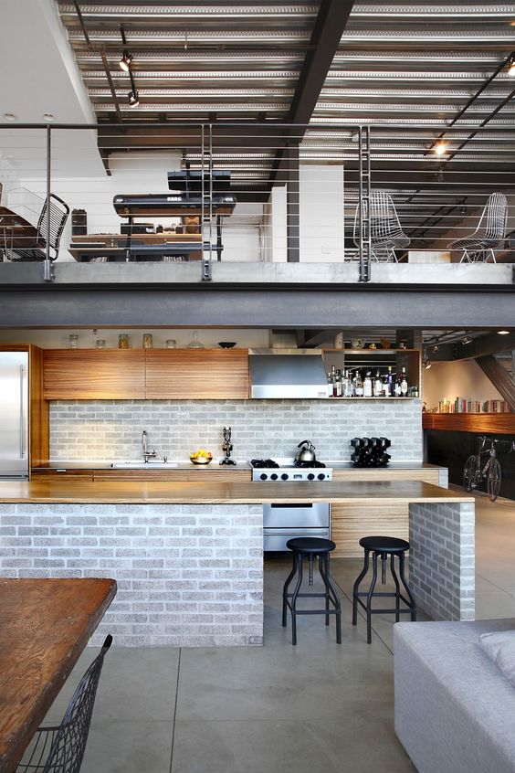 loft kitchen design idea 16