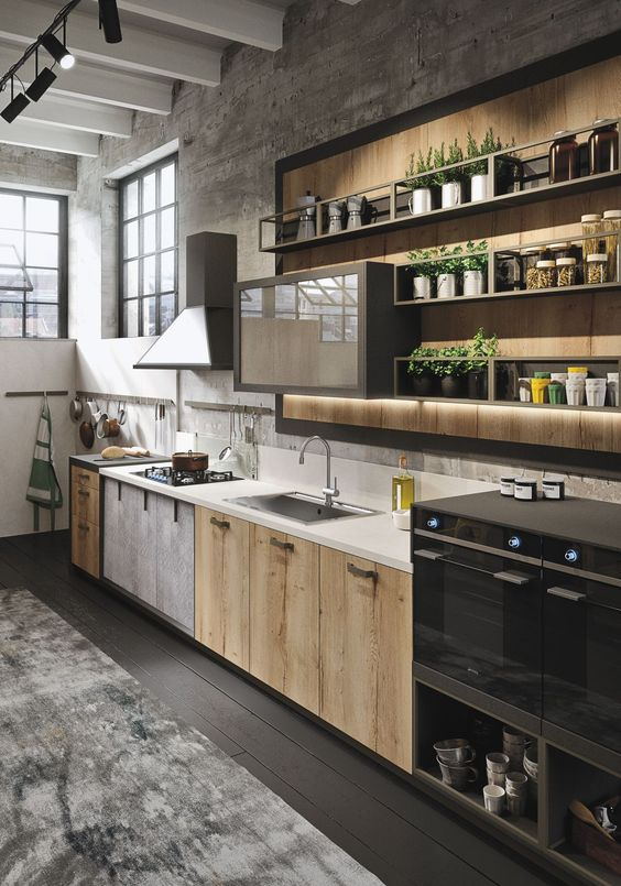 Loft Kitchen Design Idea 4