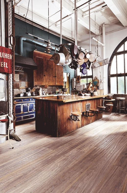 Wonderful Loft Kitchen Design Idea