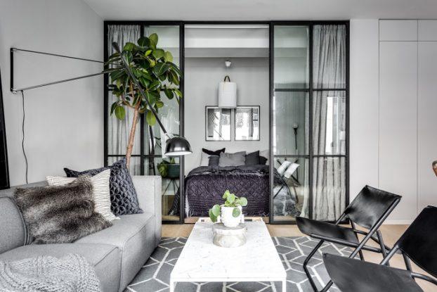 Elegant Ostermalm small apartment interior 2