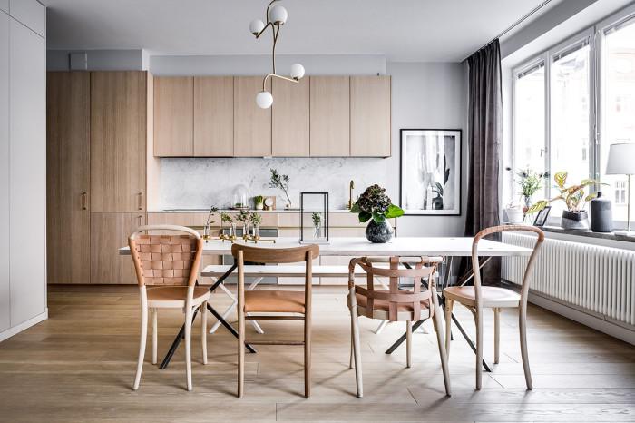 the elegant Östermalm small apartment decoholic