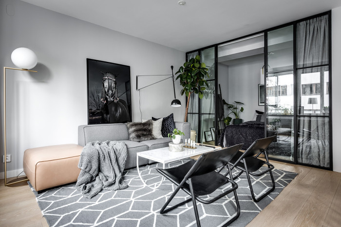 elegant ostermalm small apartment interior