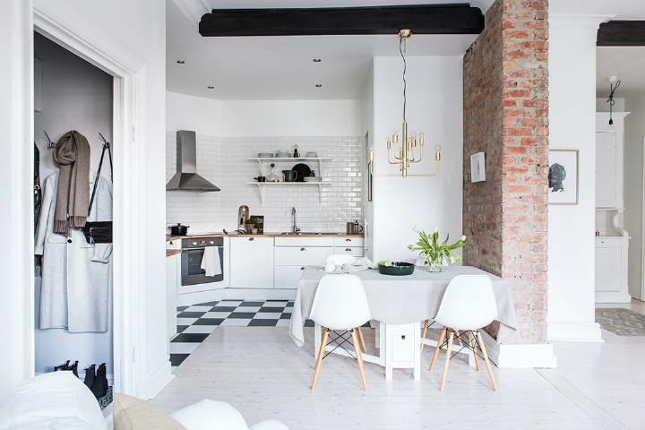 Exposed Brick and Intense White Create a Stunning Decor 10
