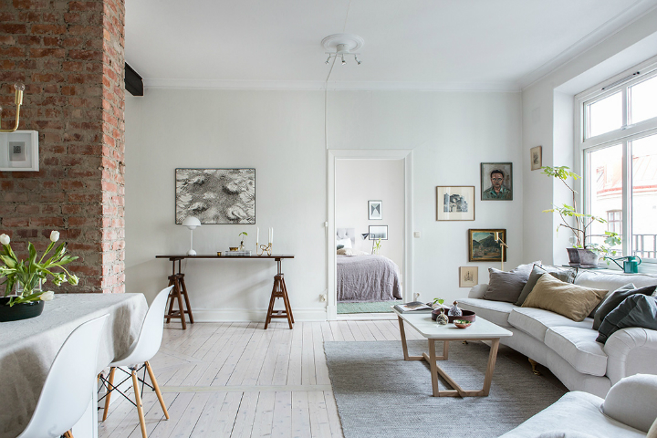 Exposed Brick and Intense White Create a Stunning Decor 3
