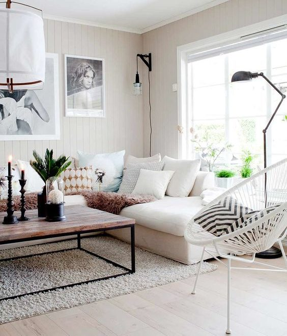 beautiful scandi eclectic style living room