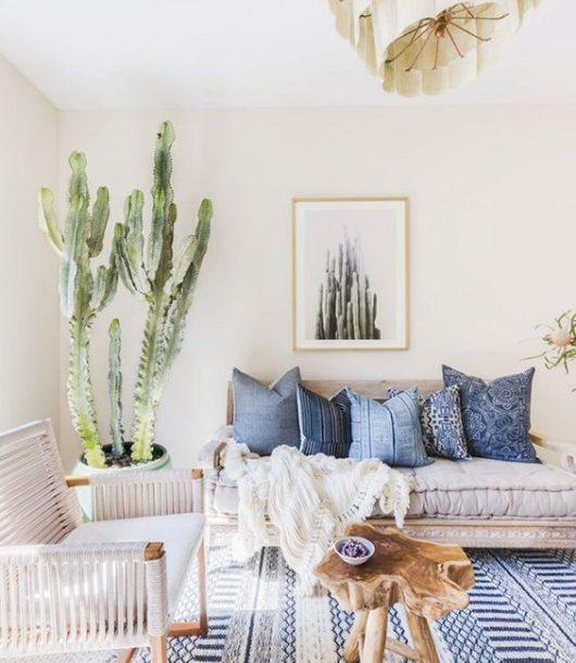 cactus interior design trend idea