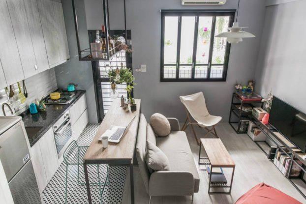 tiny apartment studio design idea