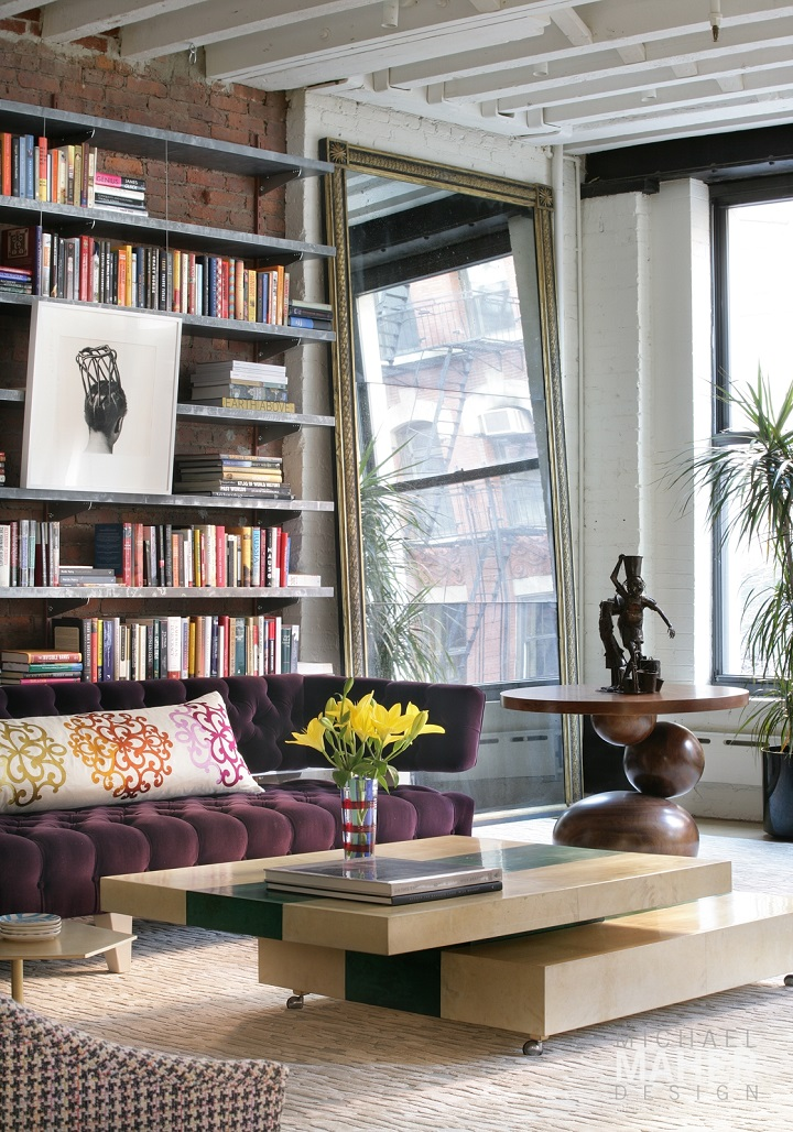 Cool and inviting new york city loft decoholic for Living room york