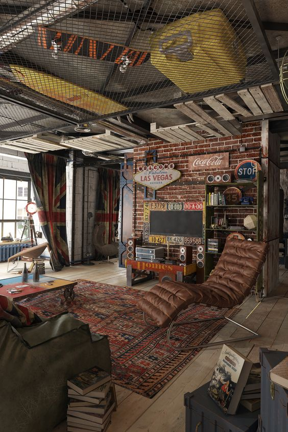 bachelor pad masculine interior design 10
