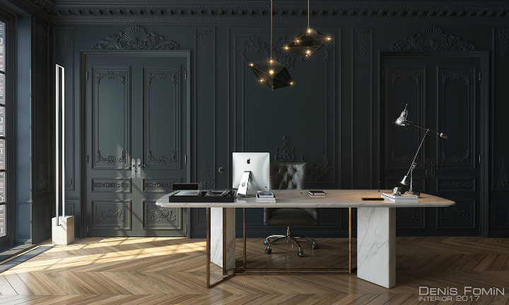 The Black Parisian Interior Design For Home Office 2