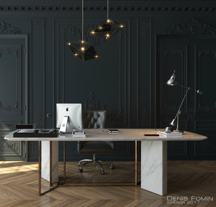 The Black Parisian Interior Design For Home Office 3