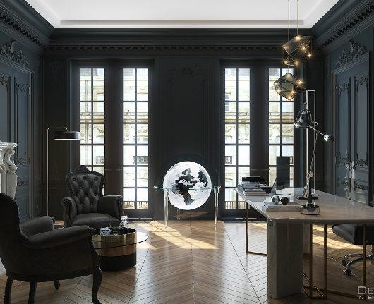The Black Parisian Interior Design For Home Office