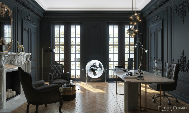 The Black Parisian Interior Design For Home Office