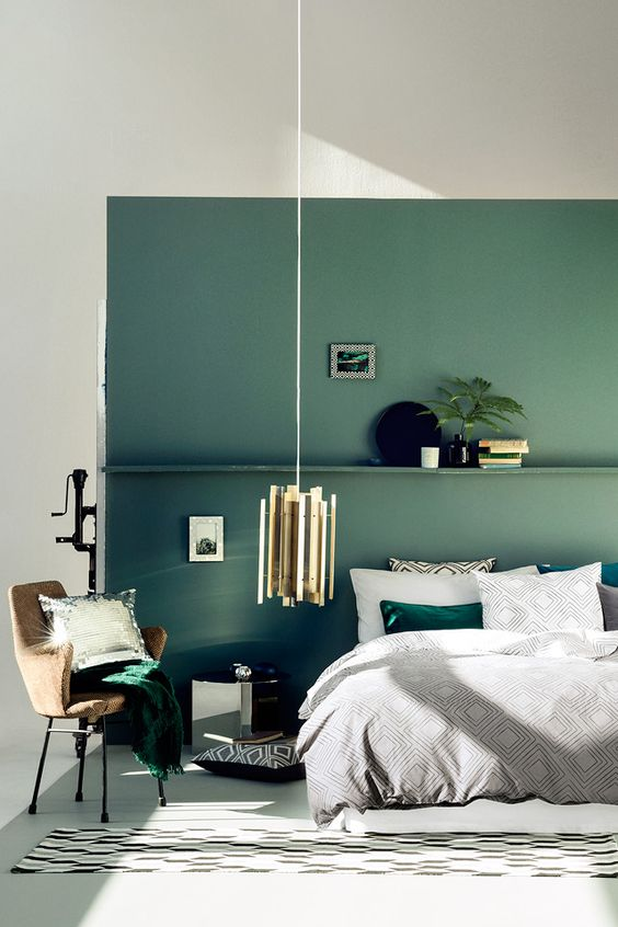 green bedroom design idea 16