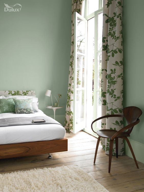 green bedroom design idea 17