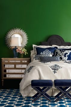 green bedroom design idea 21