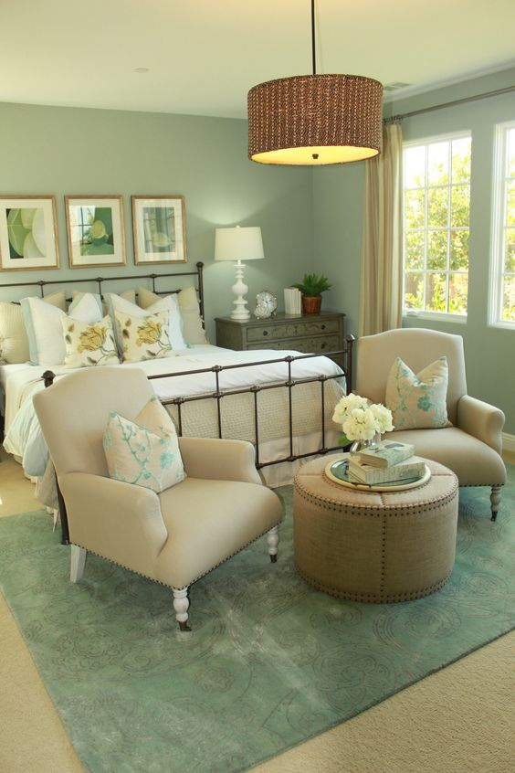 Charming Green Bedroom Design Idea 8 ...