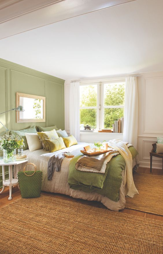 26 awesome green bedroom ideas decoholic for Bedroom interior designs green