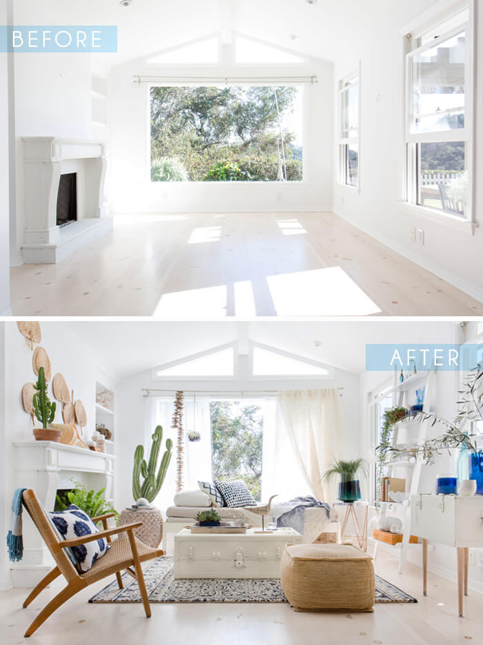 How to Create the Perfect Blue and White Sunroom 3