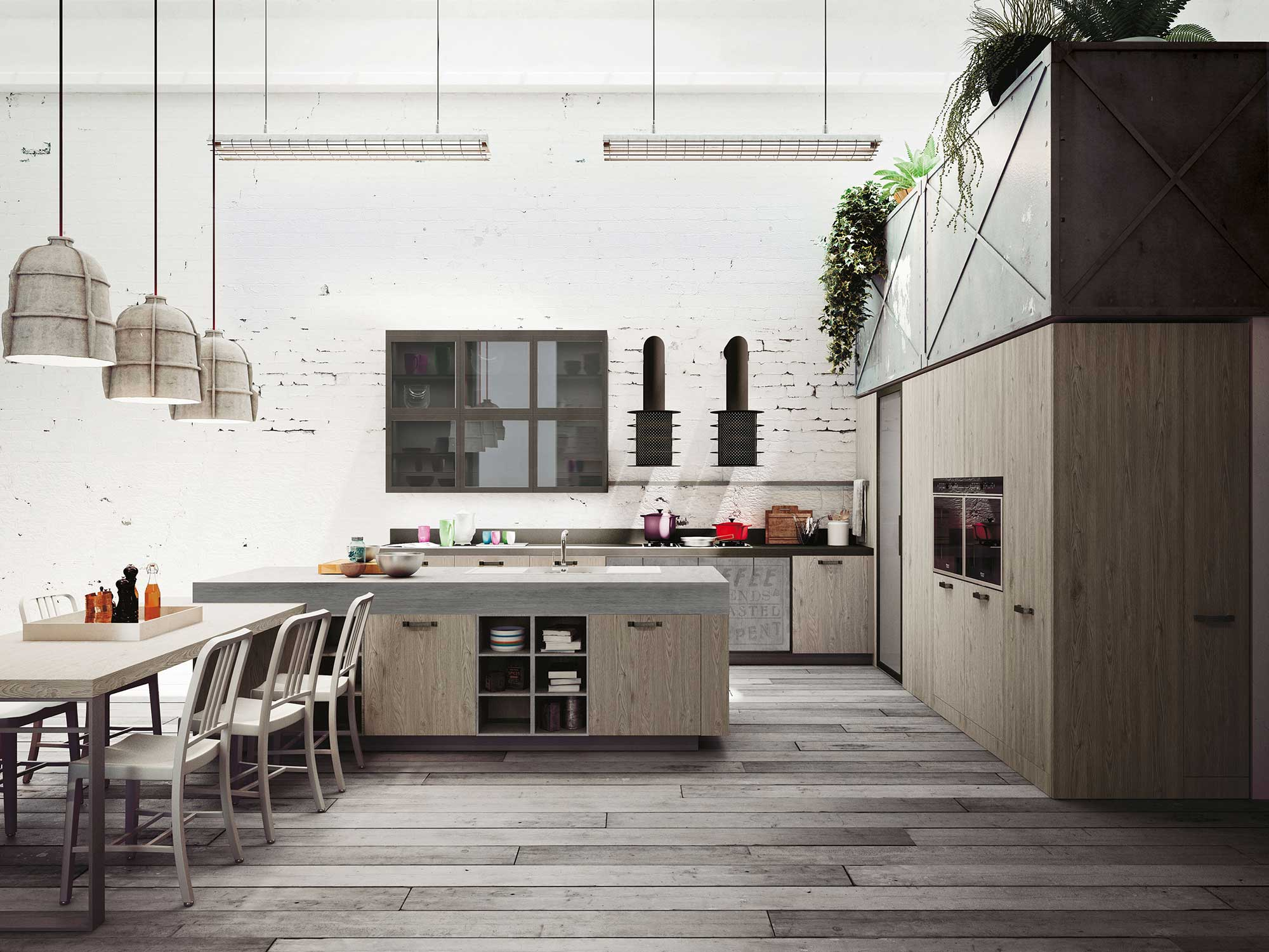 Expression Of The Latest Urban Trends Loft Kitchen Decoholic