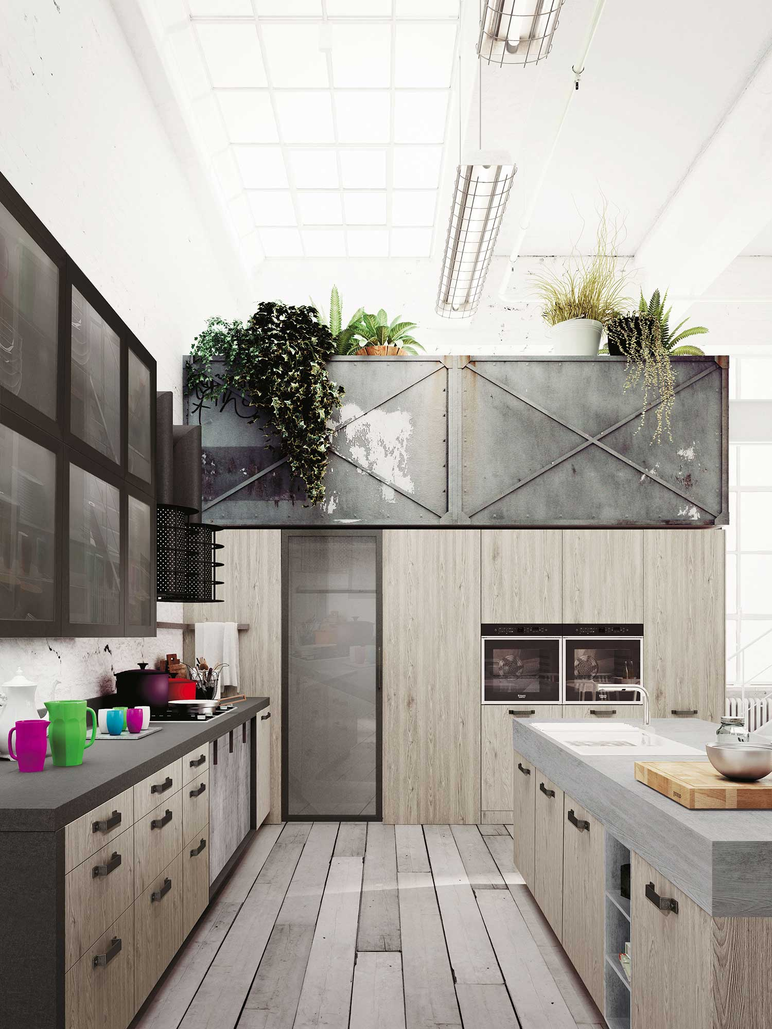 Expression of the latest urban trends loft kitchen for Snaidero kitchen