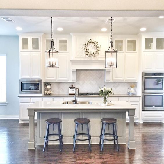 Small White Kitchen Island: 53 Best White Kitchen Designs