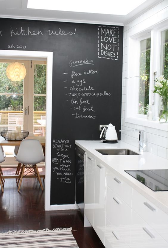 indoor chalkboard