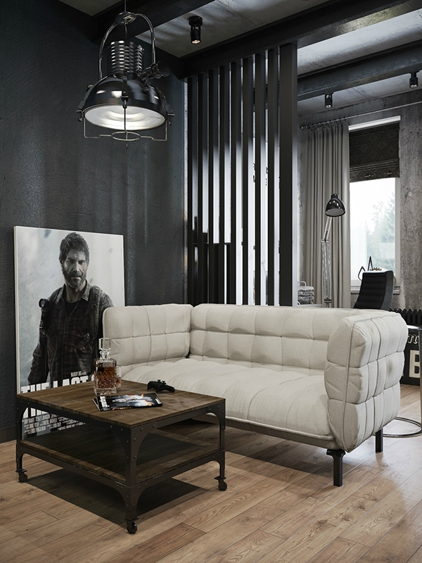 Small Modern Industrial Apartment Decoholic