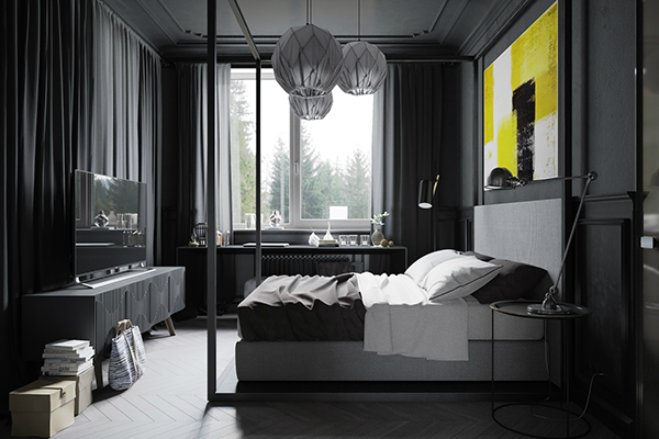 Small Modern Industrial Apartment 16