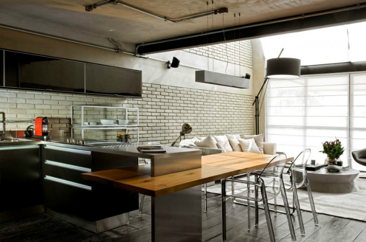 Contemporary Industrial Loft With A Warm Open Feel 12