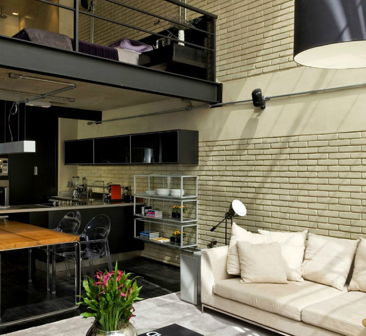Contemporary Industrial Loft With A Warm Open Feel