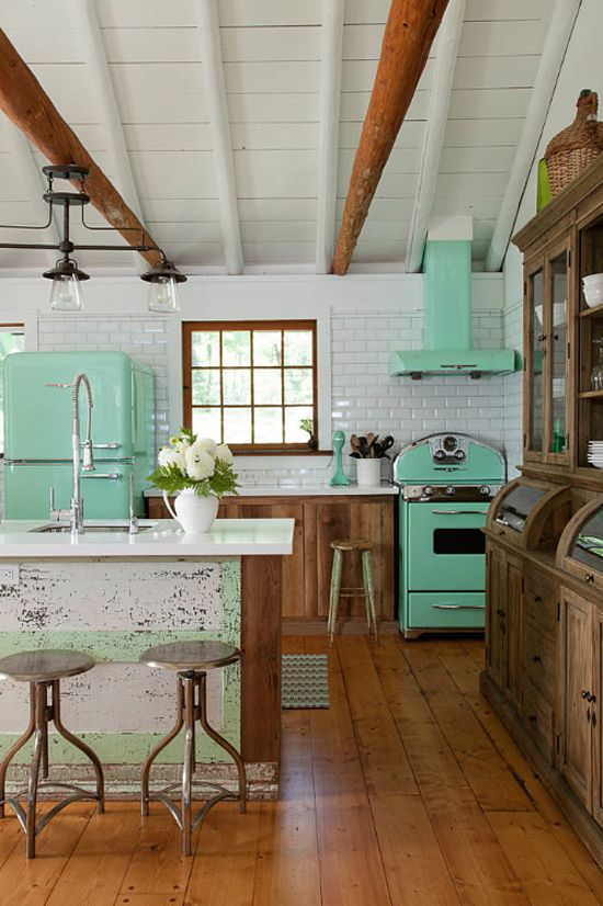 retro kitchen design idea 15 17 Retro Kitchen Ideas  Decoholic
