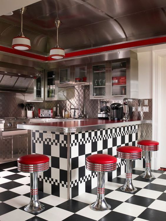 retro kitchen design idea 8