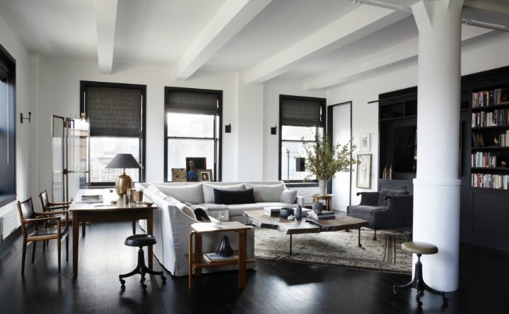 creative family new york loft decoholic. Black Bedroom Furniture Sets. Home Design Ideas