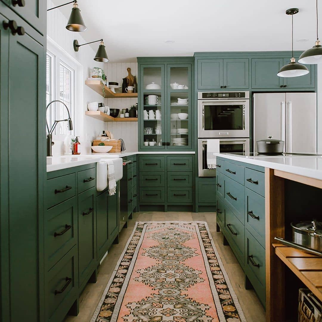 best green paint for kitchen cabinets