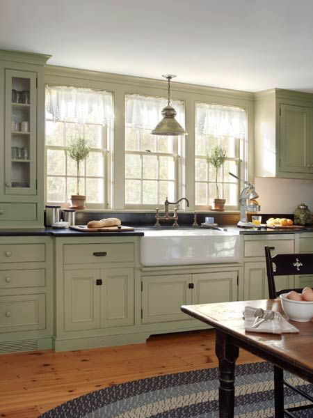 green kitchen design idea 14 - Green Kitchen Cabinets