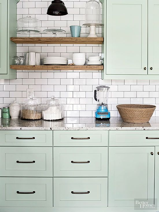 Light Green Kitchen Ideas Part - 25: Green Kitchen Design Idea 15