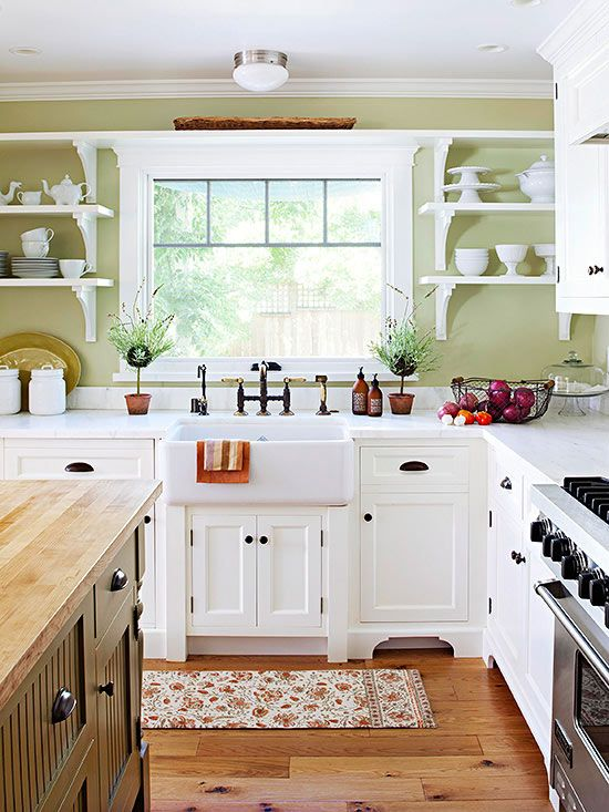 green kitchen design idea 21